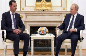 Esad'ı Moskova'da ağırlayan Putin 'dış güçleri' eleştirdi