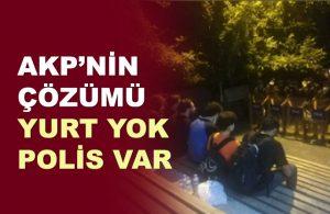'Barınamıyoruz Nöbeti'ne polis engeli: Barındığımız tek yer parklardı, elimizden alındı