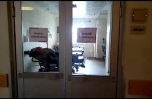 Devlet hastanesinde skandal: PCR testi odası ile covid gözlem odası yan yana!
