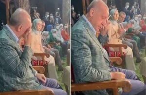 Erdoğan, seslendirdiği şiiri dinlerken ağladı