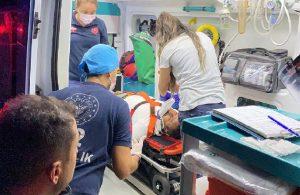 Kaza yaptı, 'Ben kiracıyım çalışmam lazım' diyerek ambulanstan inmeye çalıştı