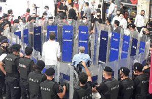 Taksim'de polis müdahalesi: HDP'li Piroğlu polis ablukasına alındı