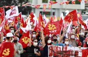TKP Kartal'da miting düzenledi: Şimdi sosyalizm zamanı