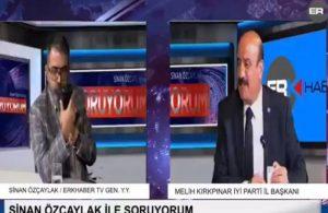 AKP'li belediye başkanı canlı yayında İYİ Partili başkana küfür etti