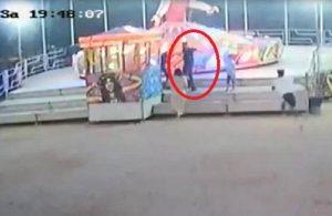 Çocuğunu balerine bindirmeyen görevliye silah çekti