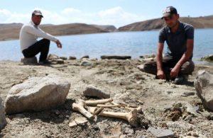 Palandöken'de sular çekildi, kemikler kıyıya vurdu