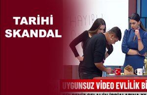 Canlı yayında eşinin cinsel içerikli videosunu izletti