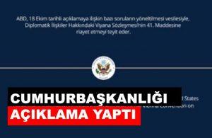 """ABD'den sonra büyükelçiliklerden ardı ardına """"istenmeyen adam"""" açıklaması"""