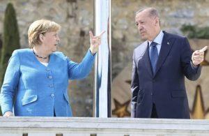 Veda ziyareti! Erdoğan, Merkel'le görüşüyor